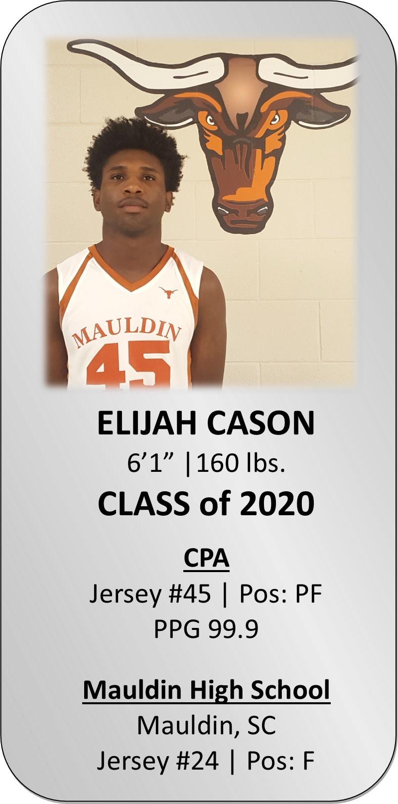 ELIJAH CASON | Mauldin College Prep Academy